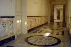 Lambris en imitation de marbres, Turquie.