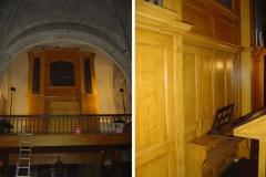 Orgue imitation de chêne, Église Saint-Germain de Charonne.