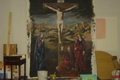 Crucifixion, d'après Nicolas Tournier, Chambéry.