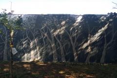 Fresque mural, forêt de 50 m2.