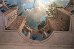 Perspective plafonnante en trompe l'oeil, 28 m2.