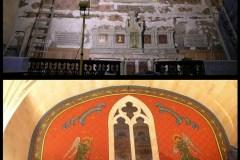 Restauration d'un décor d'église XIXe.