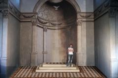 Abside peinte en trompe l'oeil, architecture style XVIIIe, église, Chambéry.